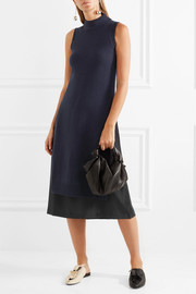 Joseph Joy layered wool and cashmere-blend and silk-crepe dress