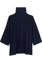 Joseph Oversized ribbed wool turtleneck poncho