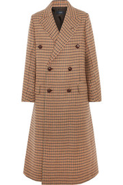Joseph Double-breasted checked felt coat