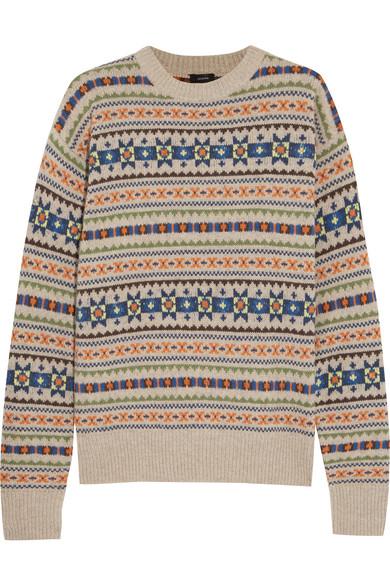 Joseph   Layered Fair Isle wool sweater   NET-A-PORTER.COM
