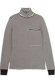 Striped merino wool turtleneck sweater