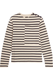 Breton striped cotton-jersey sweatshirt