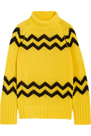 Intarsia wool turtleneck sweater