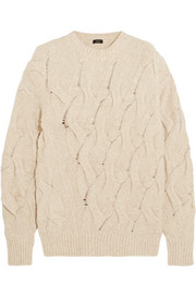 Joseph Cable-knit wool-blend sweater