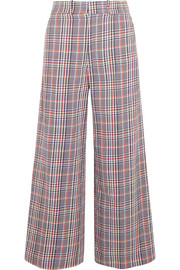 Ferrandi checked cotton-tweed wide-leg pants