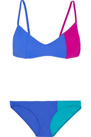 Elsa and Enel color-block triangle bikini