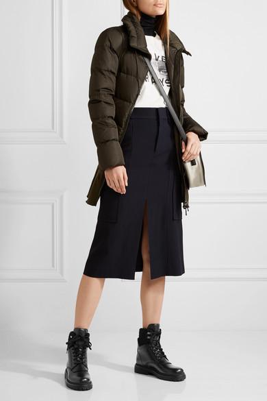 Moncler Patty Ankle Boots aus Leder mit Shearling-Besatz
