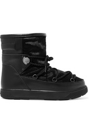Moncler New Fanny shearling-lined calf hair and leather snow boots