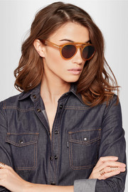 TOM FORD Clint round-frame acetate sunglasses