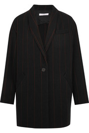 IRO Pinstriped wool-blend felt blazer