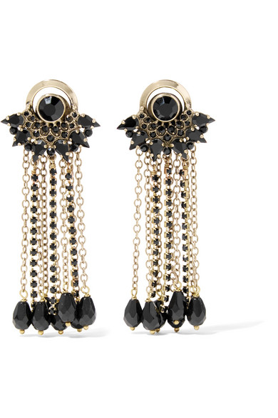 Etro - Gold-plated Crystal Earrings