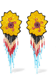 Etro Beaded clip earrings