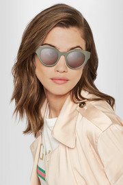 Payton cat-eye acetate sunglasses