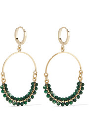 Isabel Marant Gold-tone beaded hoop earrings