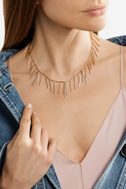 Isabel Marant Fringed silver and gold-tone necklace