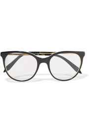 Classic Kitten cat-eye acetate and gold-tone optical glasses
