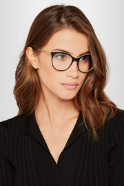 Victoria Beckham Classic Kitten cat-eye acetate and gold-tone optical glasses
