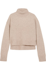 Lyn cropped cashmere turtleneck sweater