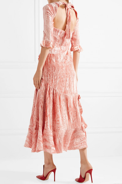 Clearance 100% Guaranteed Alina velvet dress Rejina Pyo Clearance Cheap Real Free Shipping Official Discount Affordable bzU0G3