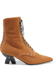 Shearling-lined suede ankle boots
