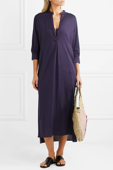 Zephyr Cotton-jersey Dress - Dark purple Eres o5gF5