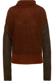 Wilder striped wool-blend bouclé turtleneck sweater
