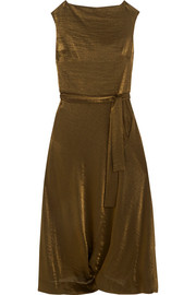 Vivienne Westwood Anglomania Vasari draped metallic jersey midi dress