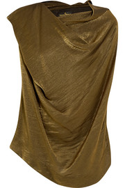 Vivienne Westwood Anglomania Duo draped metallic jersey top