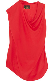 Duo draped voile blouse