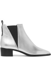 Jensen Alu metallic textured-leather ankle boots