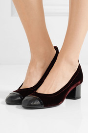 Lanvin Velvet and patent-leather pumps