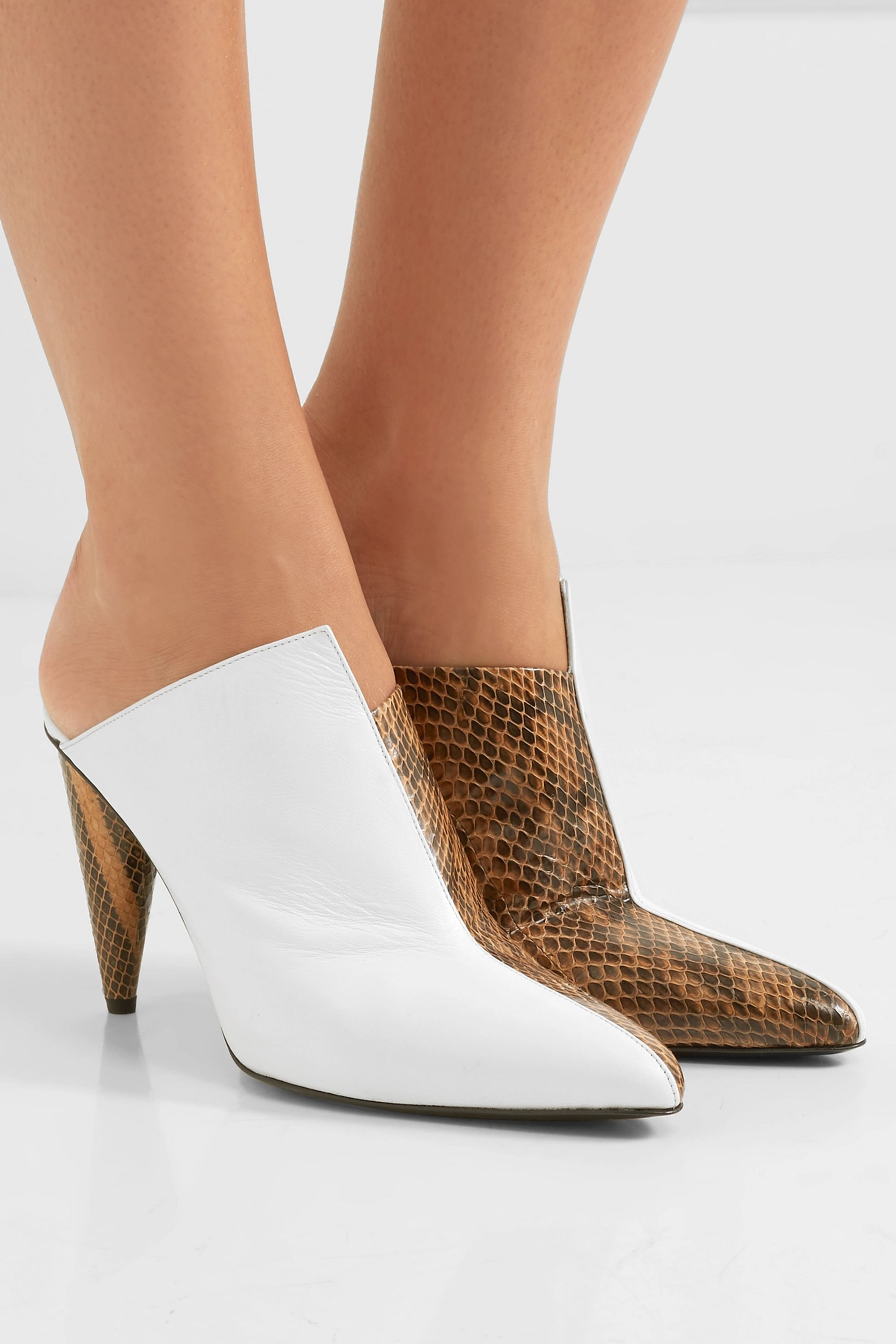 Acne Studios Demy elaphe and leather mules
