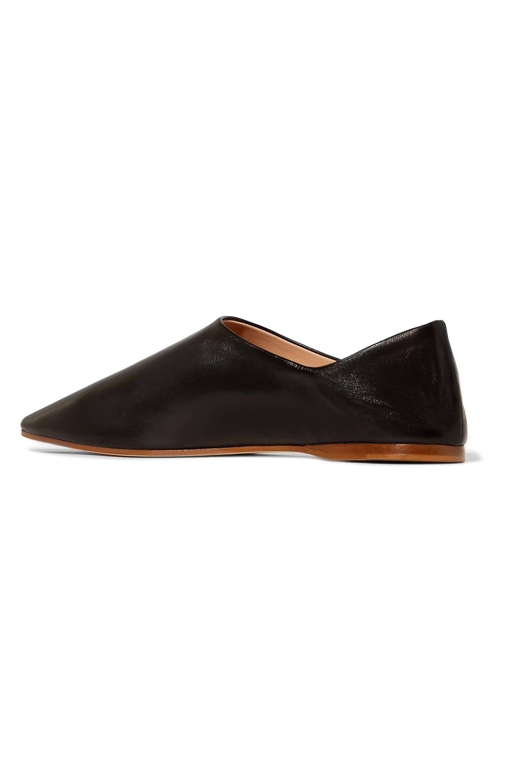 Acne Studios Amina 折叠式后跟皮革便鞋