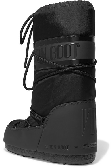 Moon Boot Shell-piqué And Rubber Snow Boots Discount Real 94g7pxo