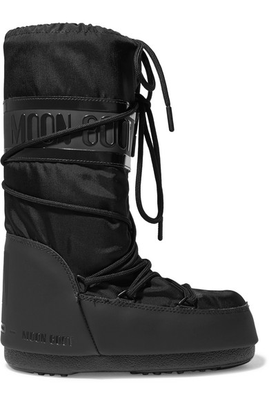 Moon Boot - Shell-piqué And Rubber Snow Boots - Black