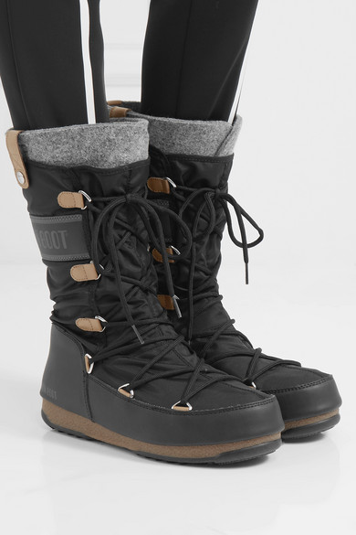 competitive price 295db 90239 Monaco felt-lined shell and faux leather snow boots