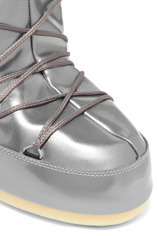 Moon Boot Metallic vinyl boots