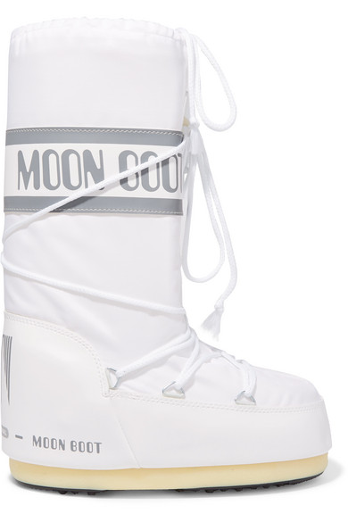 Moon Boot - Shell-piqué And Rubber Snow Boots - White
