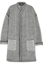 Oversized bouclé-knit cardigan