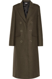 Karl Lagerfeld Lace-up wool-blend coat