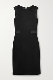 Karl Lagerfeld Satin-trimmed crepe mini dress