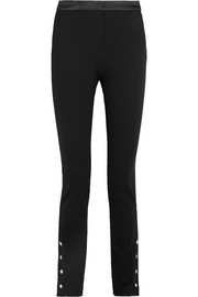 Karl Lagerfeld Satin-trimmed stretch-jersey slim-leg pants