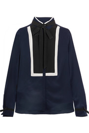 Karl Lagerfeld Pussy-bow silk blouse