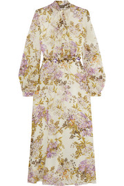 Giambattista Valli Printed embellished silk-georgette midi dress