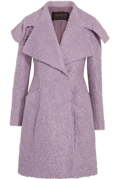 Giambattista Valli - Mohair-blend Bouclé Coat - Lilac