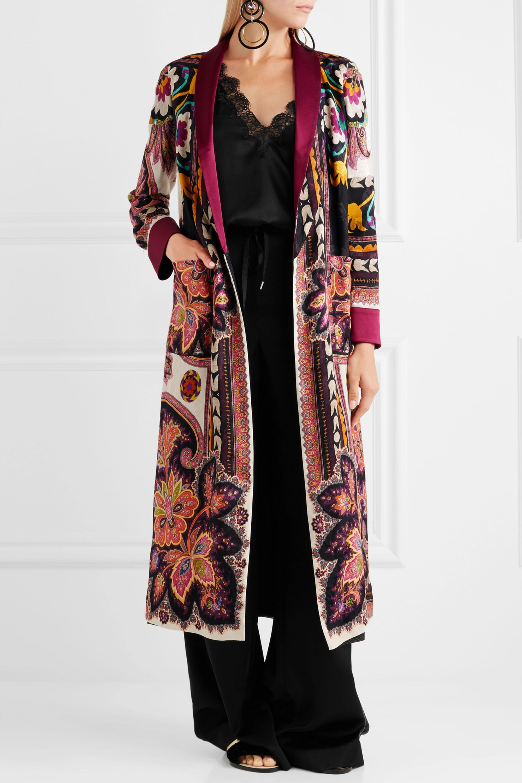 Etro Reversible printed satin-jacquard jacket