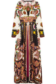 Etro Lace-trimmed printed jacquard gown