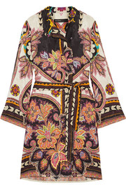 Etro Printed satin-jacquard dress