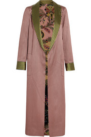 Etro Reversible jacquard and printed silk crepe de chine jacket