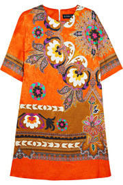 Etro Printed silk-jacquard dress